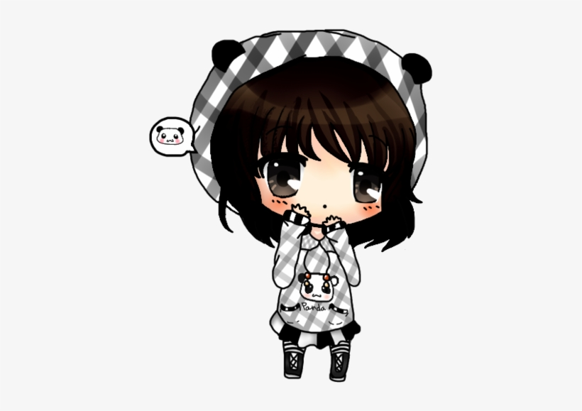 Anime Girl With Panda Hoodie Download Panda Girl Chibi Anime