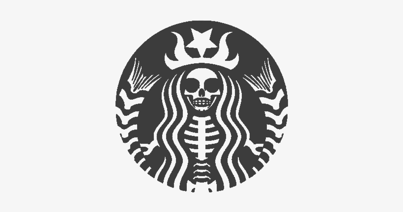 Free Starbucks Logo Png Transparent Starbucks Skull 477x750 Png Download Pngkit