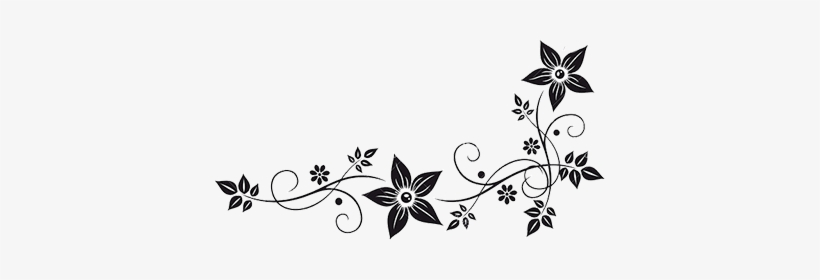 Vector Graphics Flower Border Black White Clip Art - Flowers Black And White Png