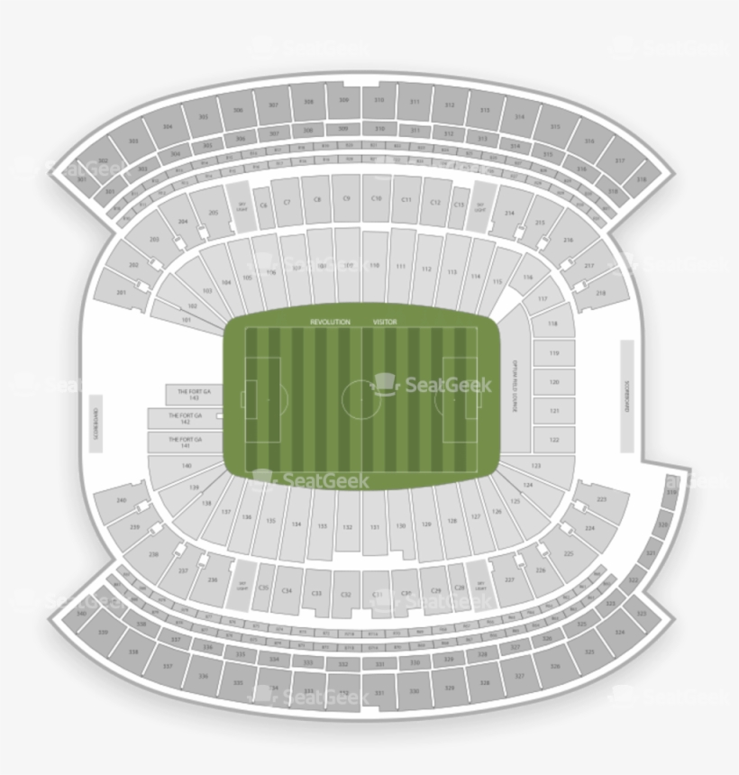 New England Revolution Seating Chart Map Seatgeek Gillette Stadium 1000x1000 Png Download Pngkit