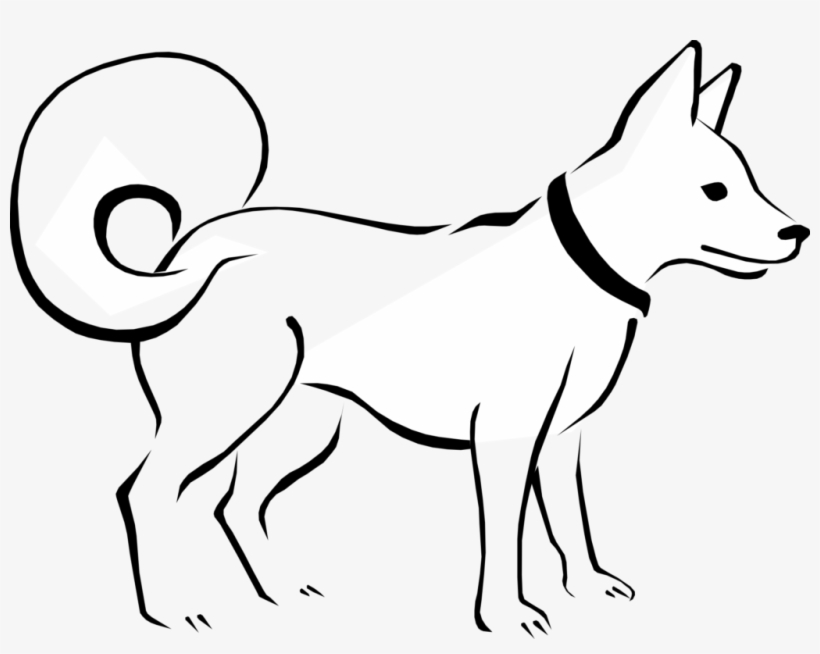 Free Black And White Png Of Dogs Transparent Black Dog Clipart