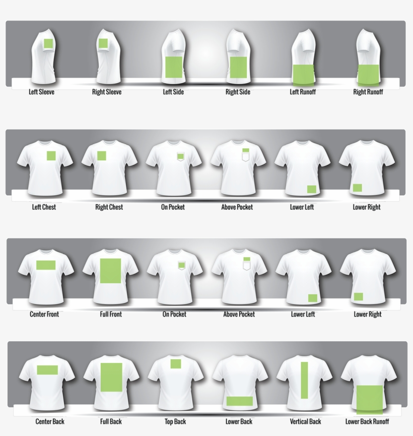 Size Template T Shirt Printing Sizes