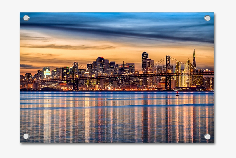 San Francisco City Scape Wall Art San Francisco Wallpaper