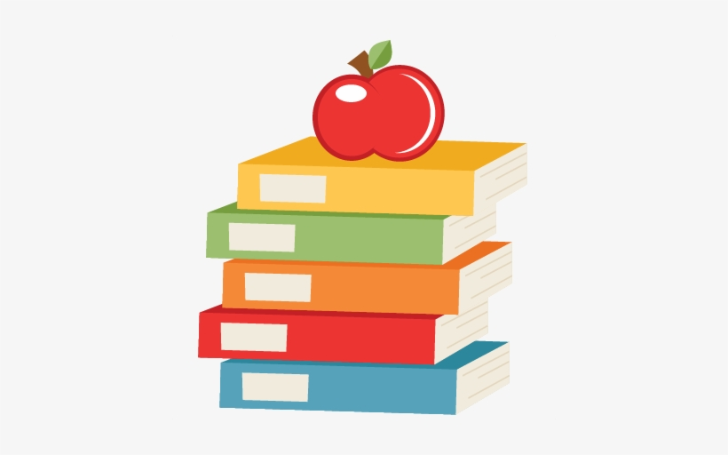 Apple On Books Svg Scrapbook Cut File Cute Clipart - Apple And Books Png -  432x432 PNG Download - PNGkit