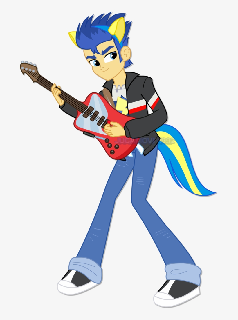 Clipart Guitar Transparent Background Mlp Eg Flash Sentry With Guitar 681x1024 Png Download Pngkit