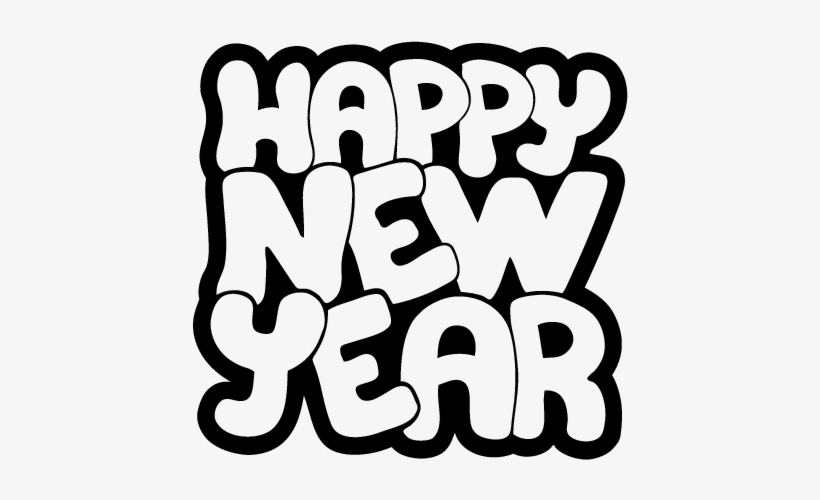Happy New Year Colorear Free Printable Coloring Pages Happy New Years 2018 600x470 Png Download Pngkit