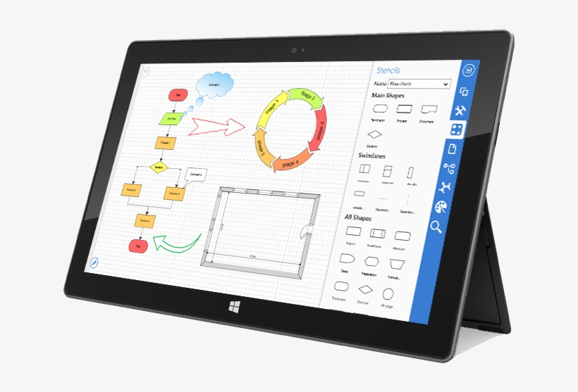 Online Flow Charting And Diagramming Software Computer Network Diagram 650x479 Png Download Pngkit