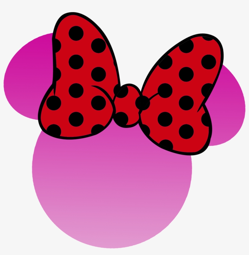 Mono Minnie Rosa Minnie Mouse Ribbon Png 1004x981 Png Download