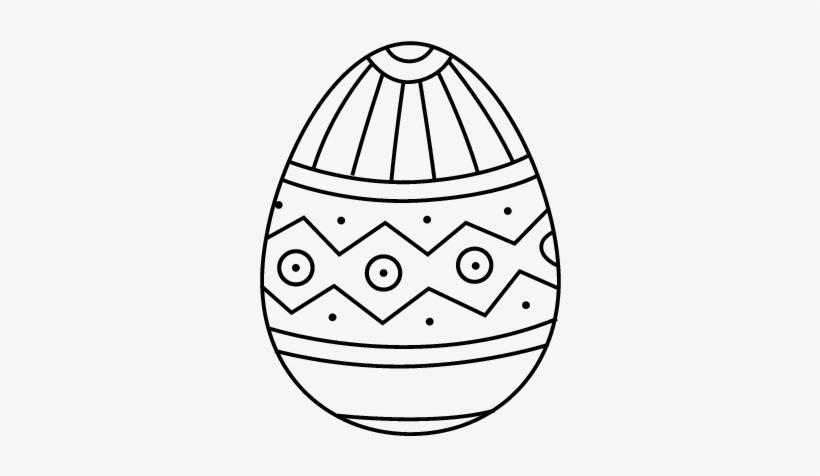 Dibujo De Huevo De Pascua Estampado Para Colorear Huevos De Pascua