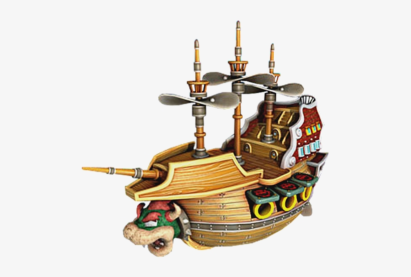 Bowser S Airship Bowser Boat Png 500x500 Png Download Pngkit