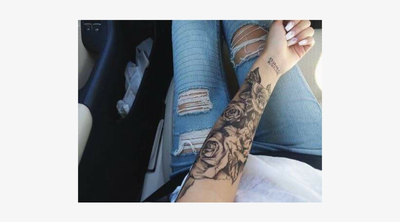 Lower Arm Female Sleeve Tattoo 720x720 Png Download Pngkit