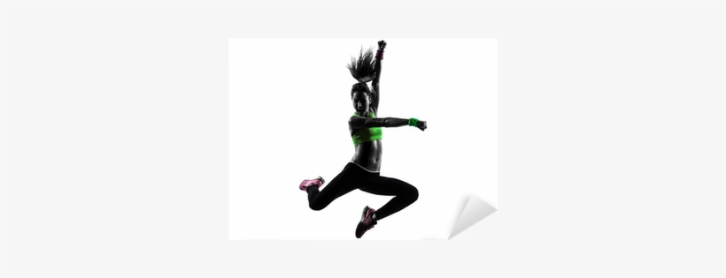 Woman Exercising Fitness Zumba Dancing Jumping Silhouette Zumba Dance Silhouette Png 400x400 Png Download Pngkit