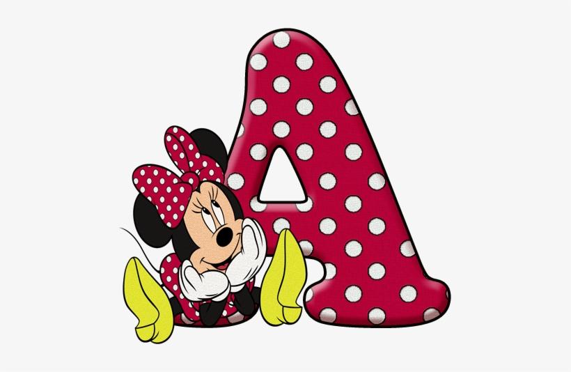 Minnie Vermelha Png Letras Personalizadas Da Minnie 477x454