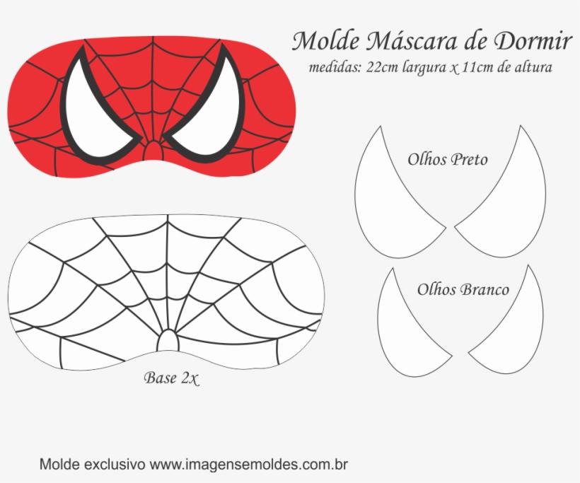 Molde Mascara De Dormir Homem Aranha Party 949x745 Png