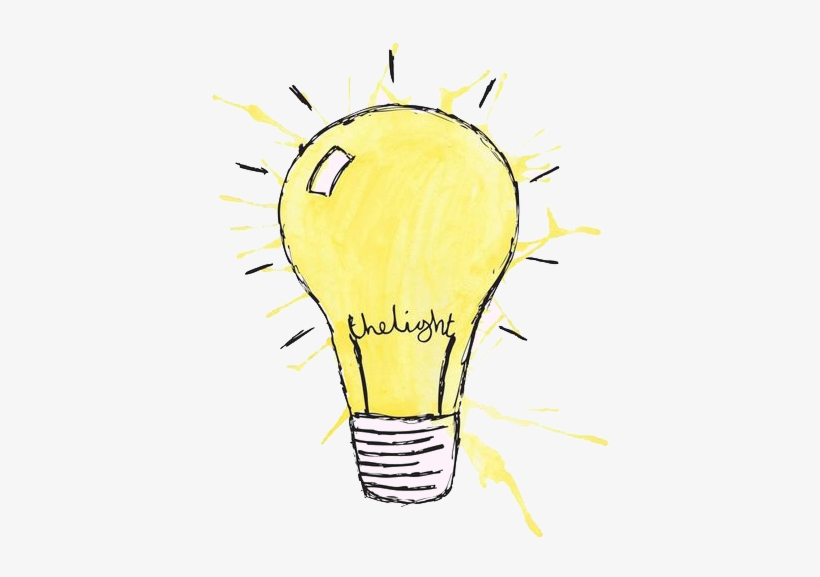 Incandescent Bulb Drawing Cartoon Illustration Watercolor Drawing 564x797 Png Download Pngkit