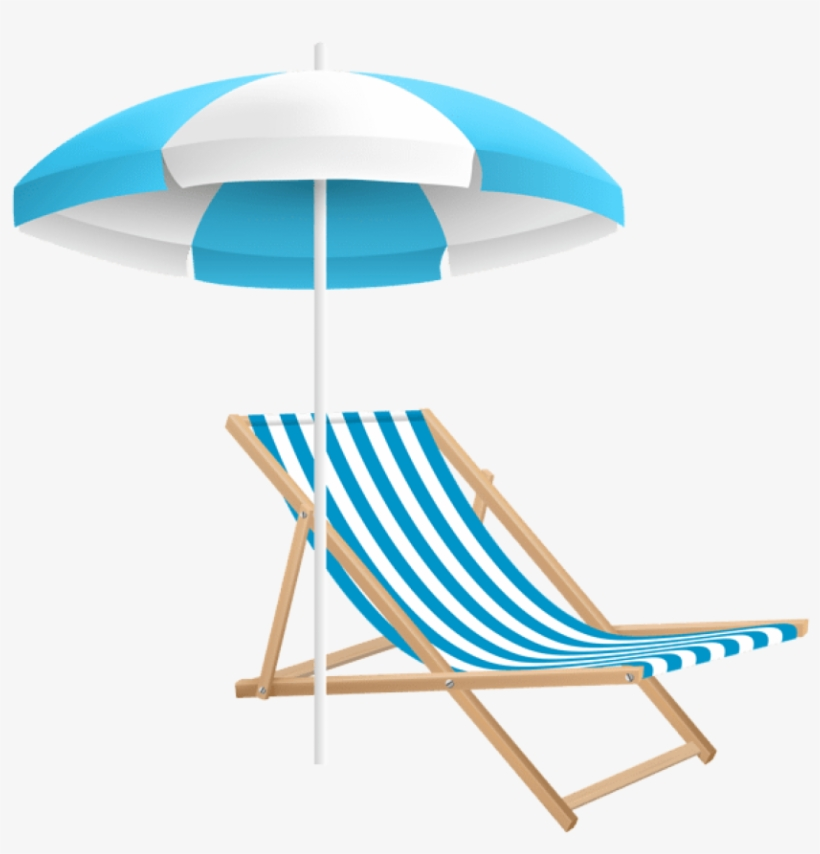 Beach Chairs With Umbrella Chair And Clip Art Transpa Png
