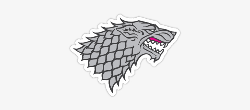 Game Of Thrones Stickers House Stark Logo Png 375x375 Png Download Pngkit