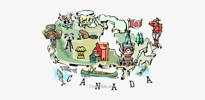Clip Art Canada Map Geography Canada Map Royalty Free Vector Clip Art Illustration   Geography