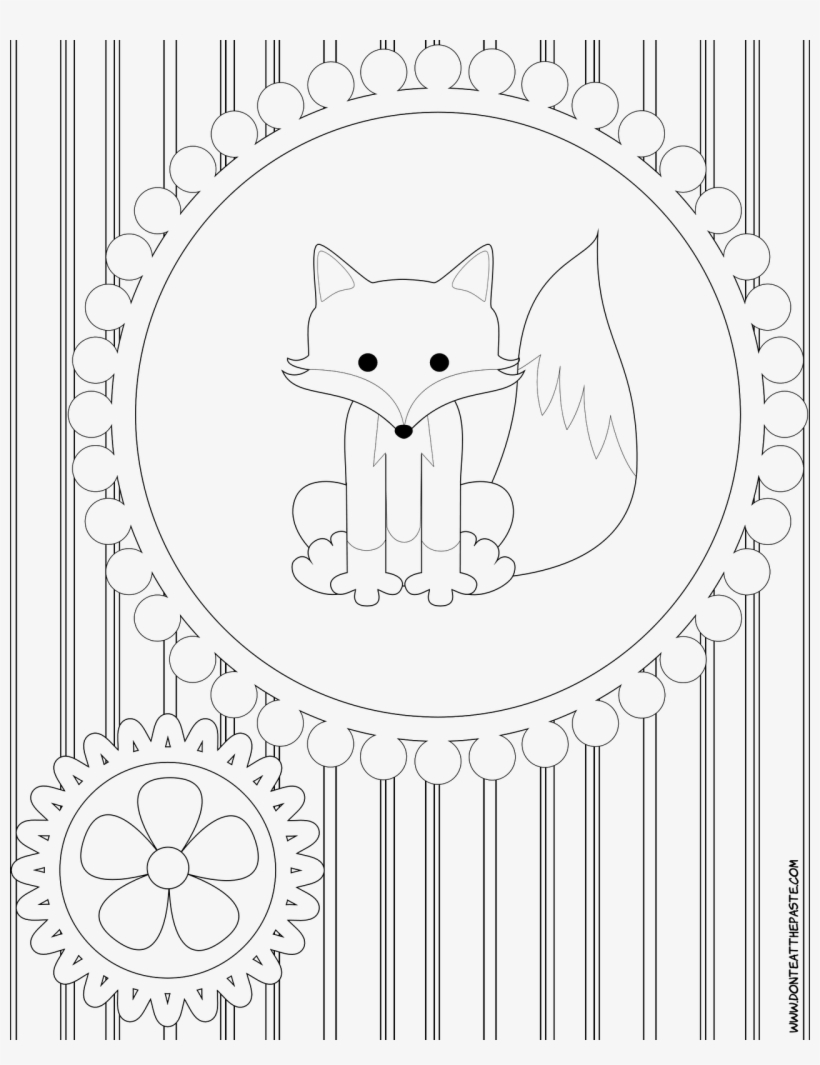 Cute Baby Fox Coloring Pages - Coloring Book - 1280x1600 PNG ...