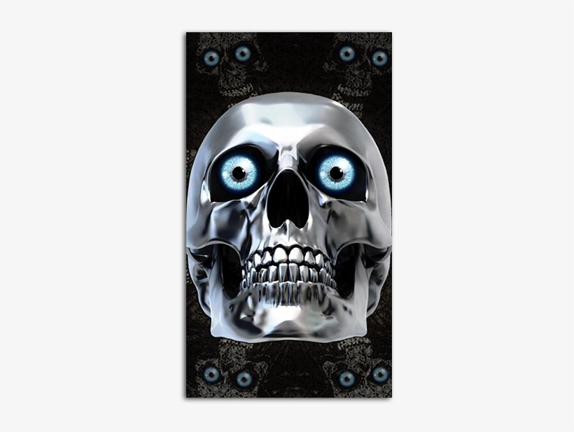 Chrome Skull Mobile Wallpaper - Skull Wallpaper Hd For Mobile