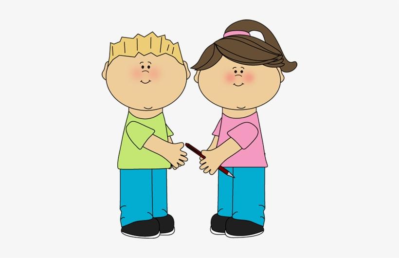 Free Clip Art School Kids - Partner Clipart - 402x450 PNG Download - PNGkit
