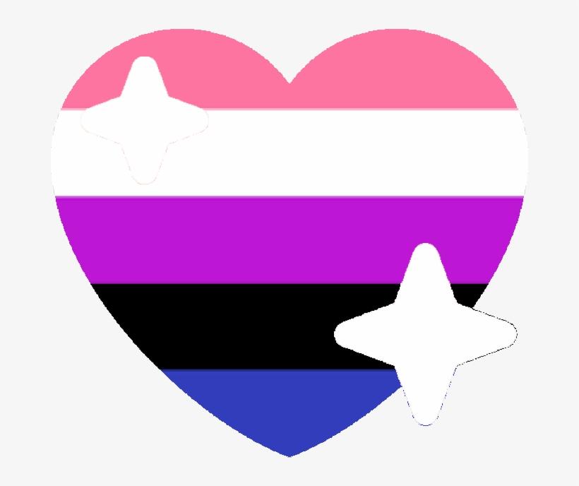Genderfluid Sparkle Heart Discord Emoji - Discord Gay Pride Emojis