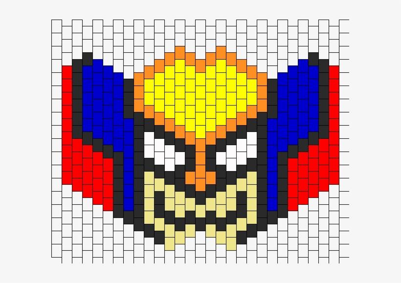 Wolverine Mask 3 Bead Pattern - Wolverine Kandi Rave Mask - 609x499