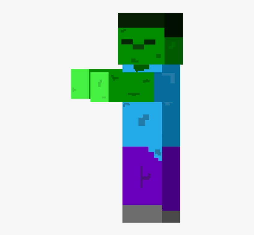 Taking Damage Minecraft Zombie 2d Png 1600x1131 Png Download