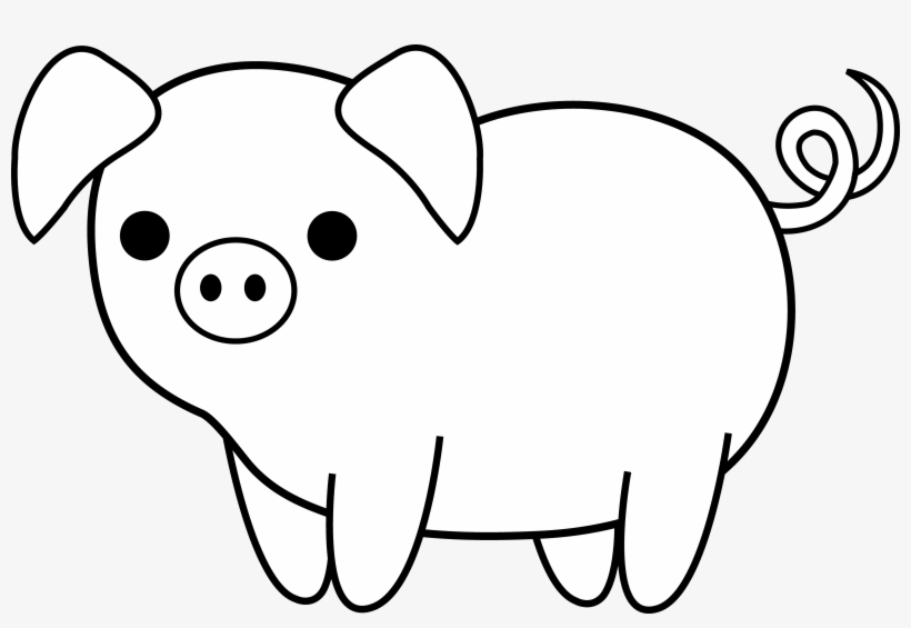 22+ Pig Cartoon Black And White Png Wallpapers