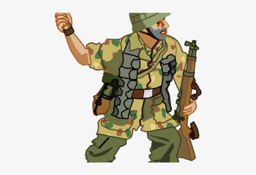 Clipart Cartoon Drawing Of German Ww2 Soldier - 640x480 PNG