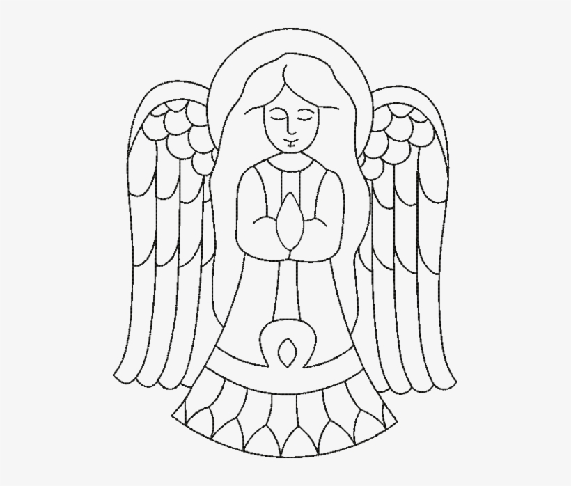 Christmas Angel Black Outline Christmas Day 495x618 Png Download Pngkit