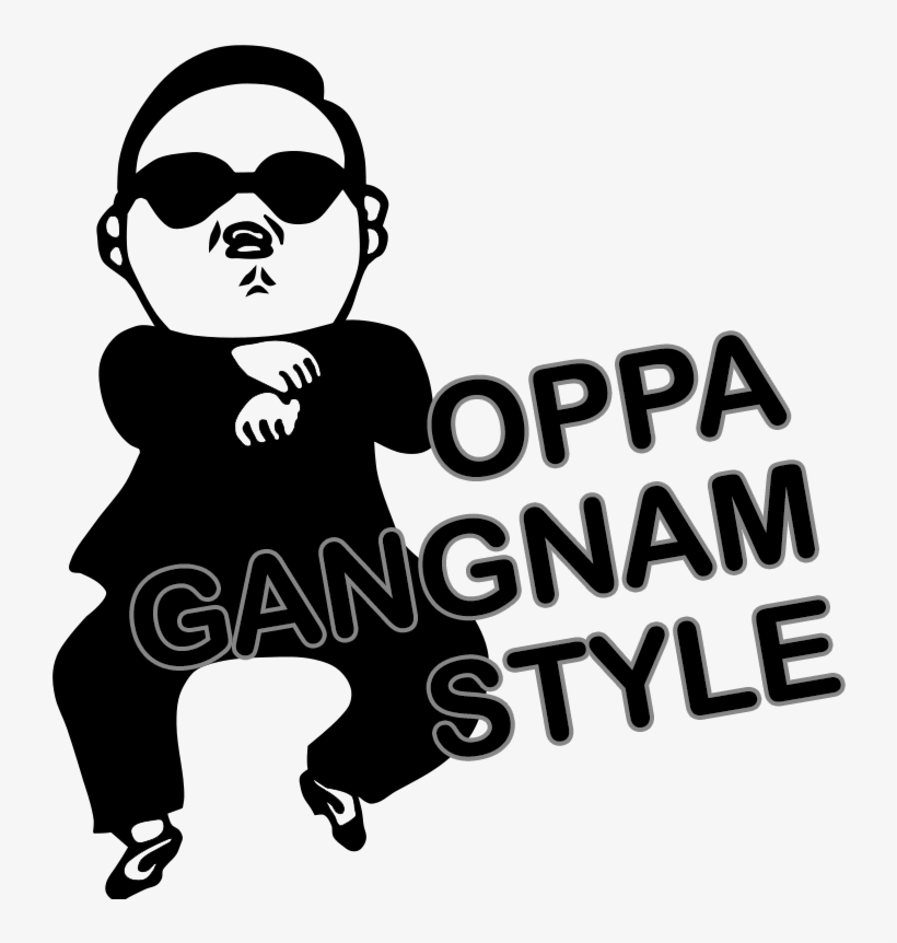 Psy Gangnam Style Logo - 792x795 PNG Download - PNGkit