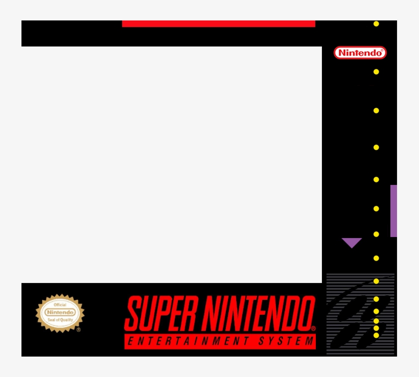 Square-format Super Nes Box Art Template Transparency