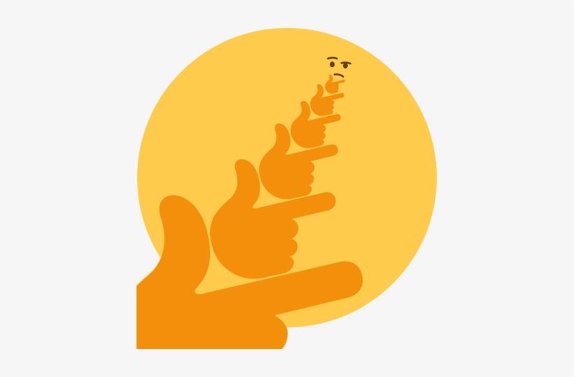 Thinking In The 4th Dimension - Thinking Emoji Deep Fried - 429x459