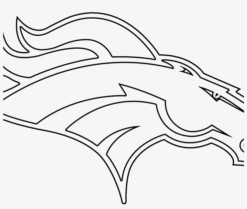 Denver Broncos Coloring Pages Denver Broncos Logo Png - Denver Broncos  Black And White Logo - 1600x1600 PNG Download - PNGkit