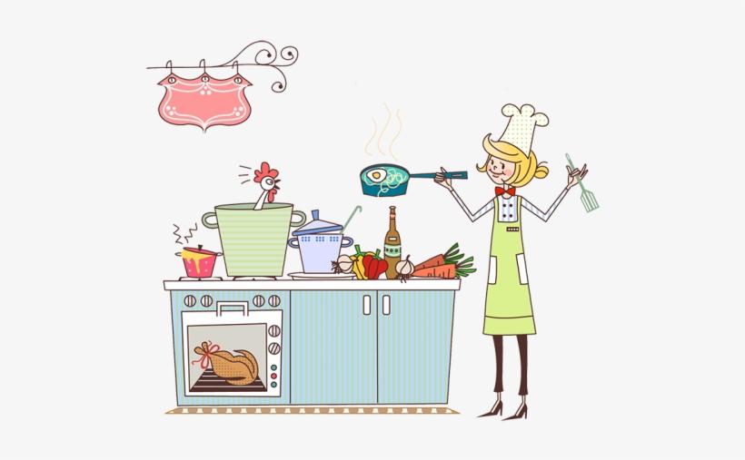Male Chef Holding Chicken Cartoon Clipart Vector - FriendlyStock