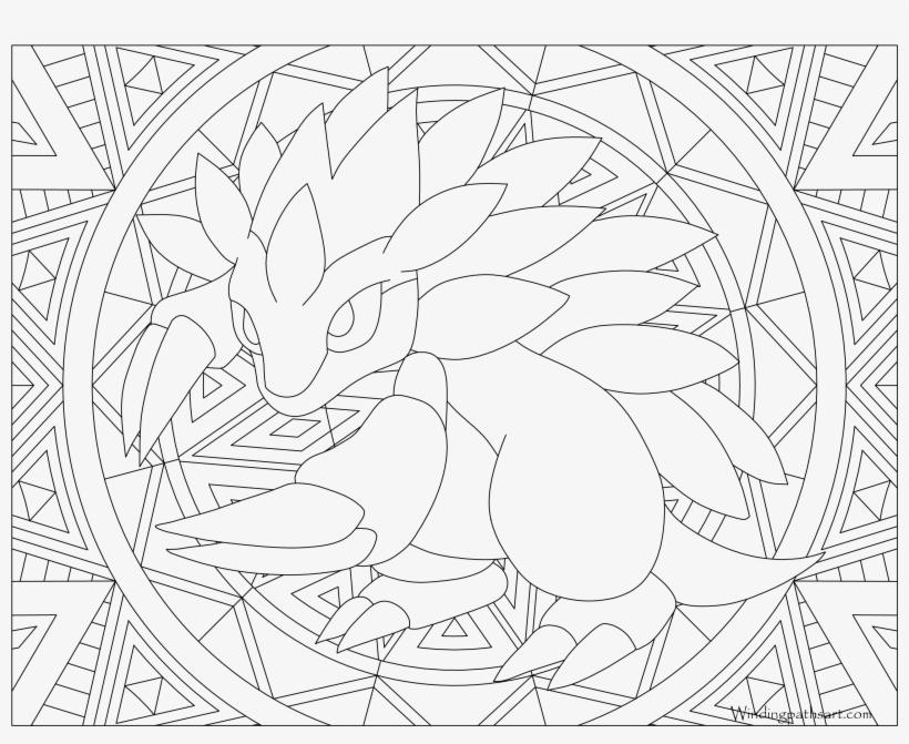 028 Sandslash Pokemon Coloring Page 075 Pokemon Colouring Page