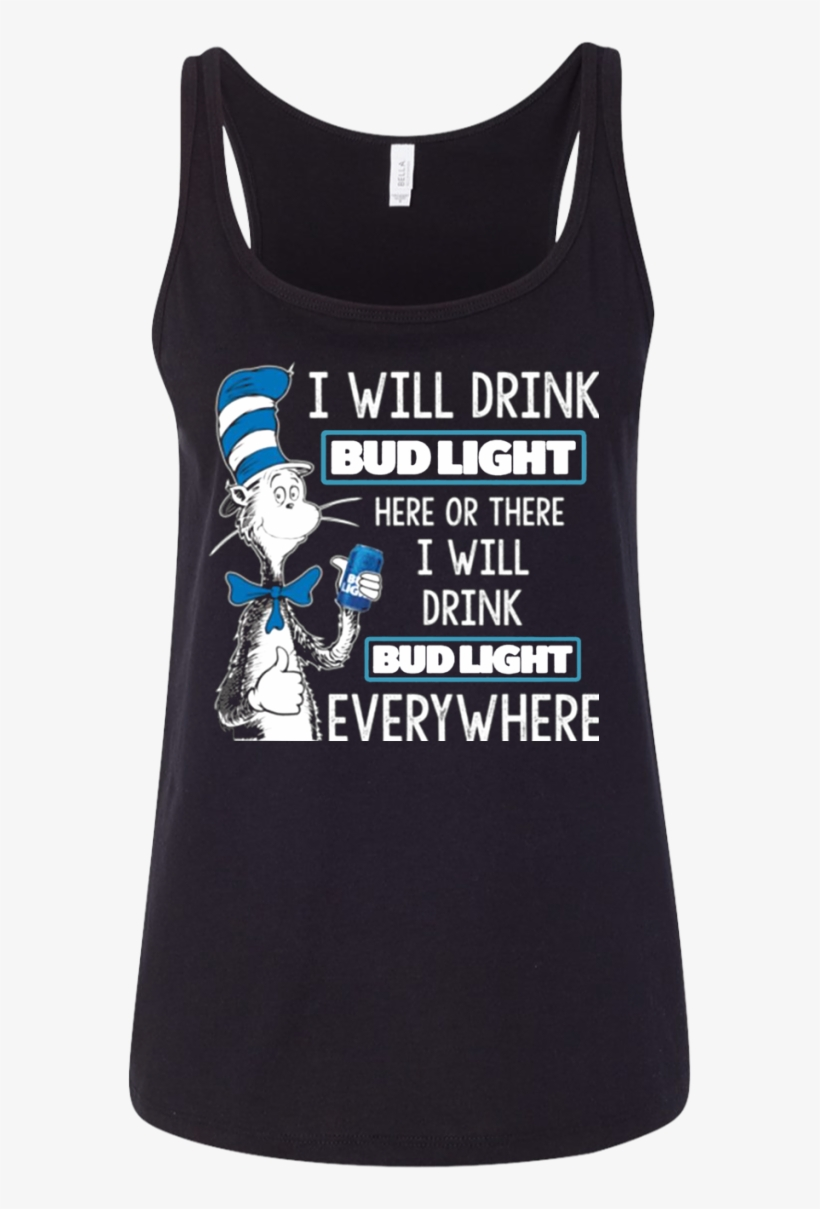 a39c459b5 Dr Seuss I Will Drink Bud Light - Straight Outta Rescue - Pit Bull Dog  Men/women Tank