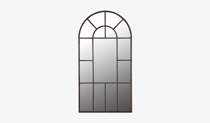 Arched Window Mirror Coach House, Arched Window Pane Mirror Large