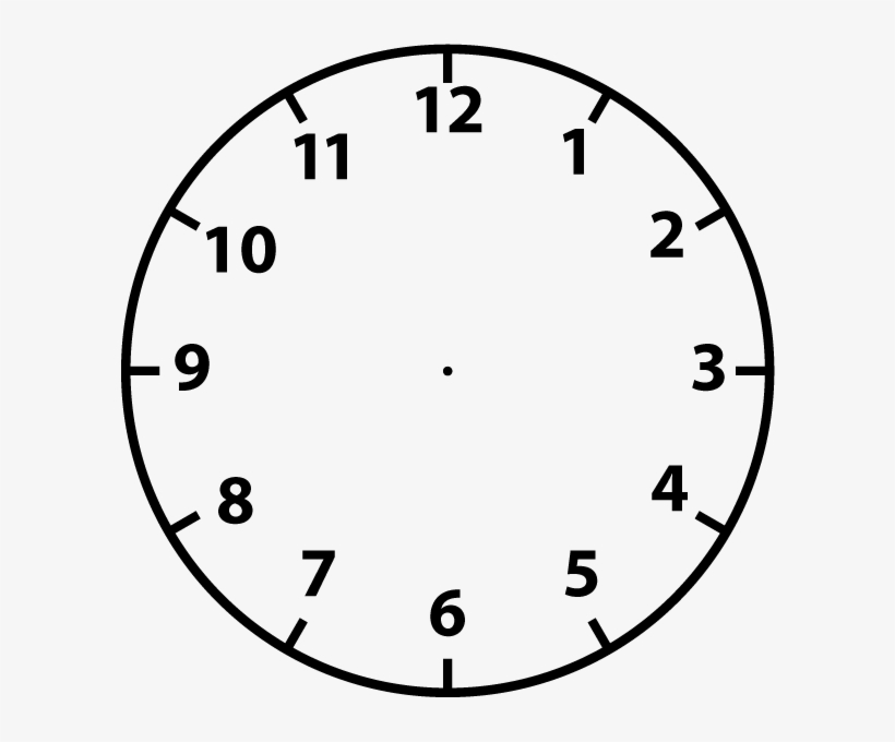 Clip Freeuse Stock Black And White Clipart Clock - Blank ...