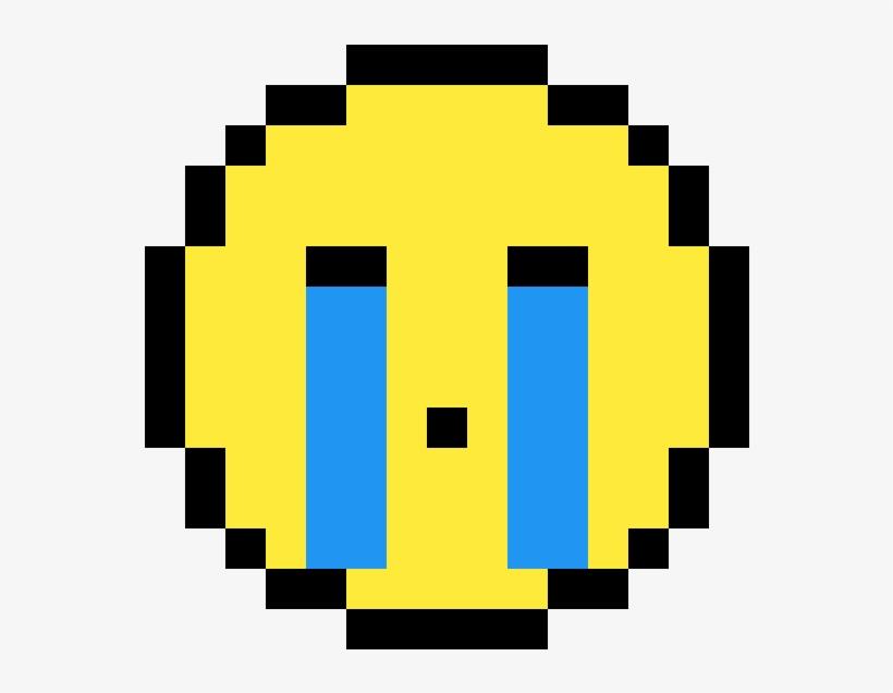 Crying Emoji Easy Beginner Pixel Art 1184x1184 Png