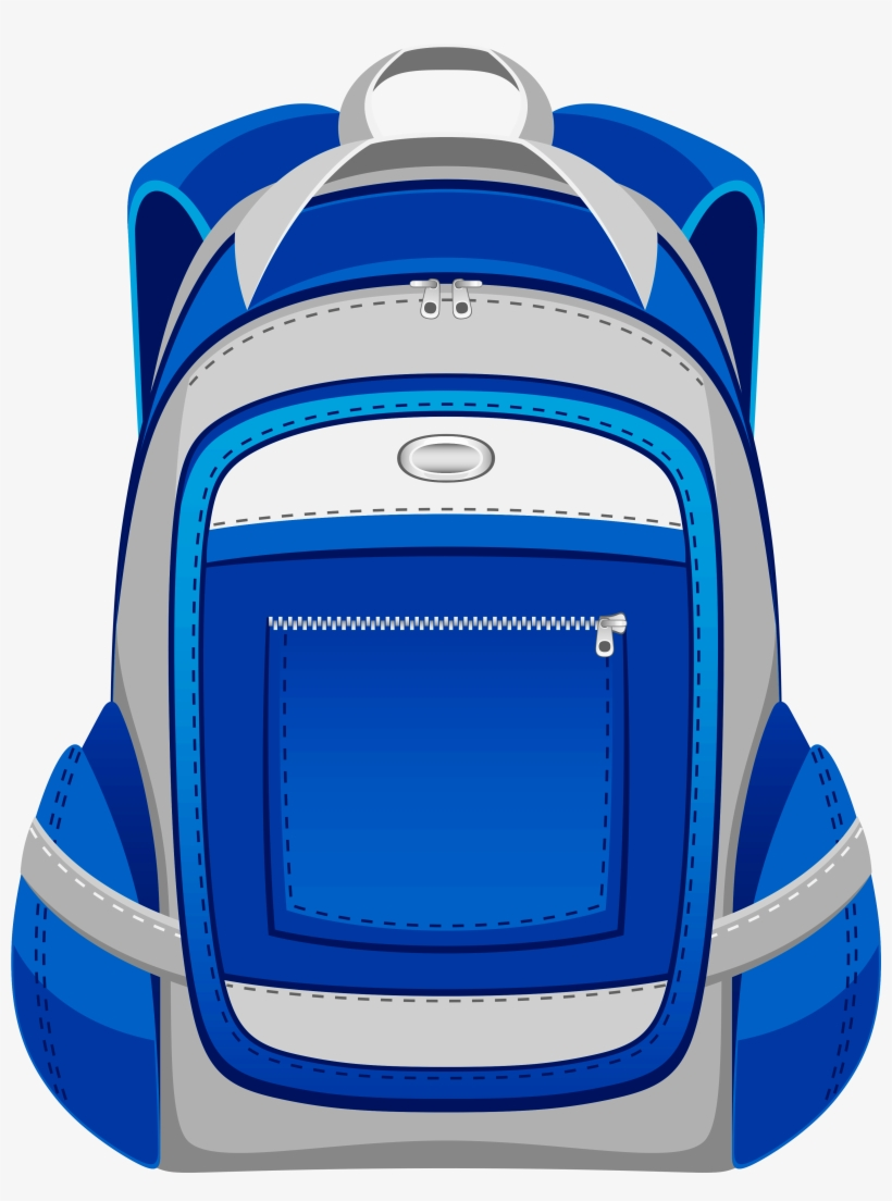 blue and grey backpack png vector clipart - backpack cli part - 471x600 png  download - pngkit  pngkit