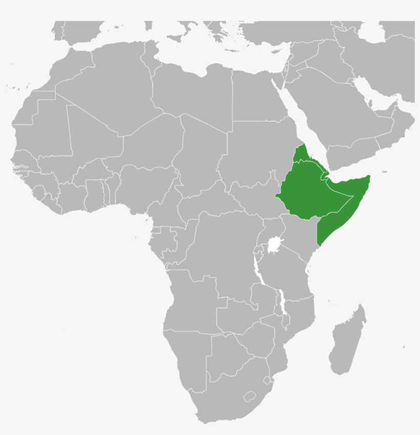 World Map Showing Africa Horn Of Africa States   Horn Of Africa World Map   380x380 PNG