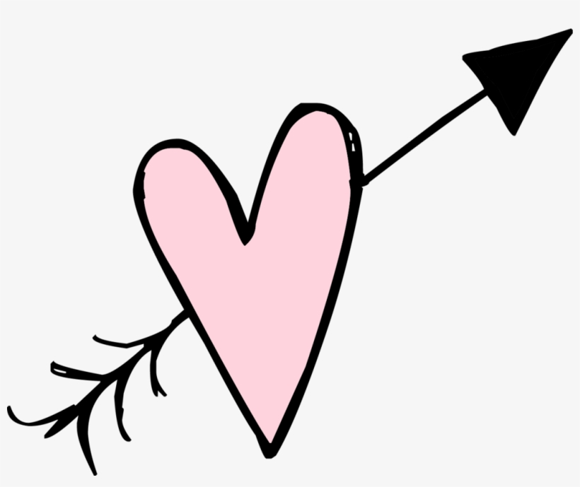 Heart doodle. Hearts clipart scribble white