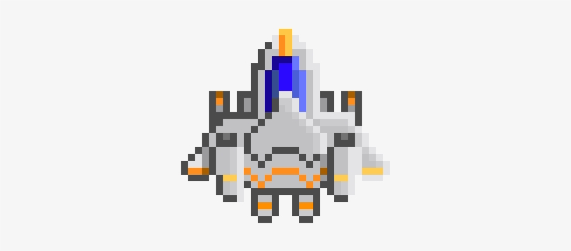 Player Space Ship Space Ship Png Pixel Art 380x350 Png Download Pngkit