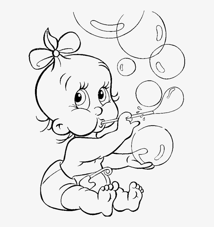 Baby Coloring Pages Baby Sister Coloring Page 600x790 Png Download Pngkit