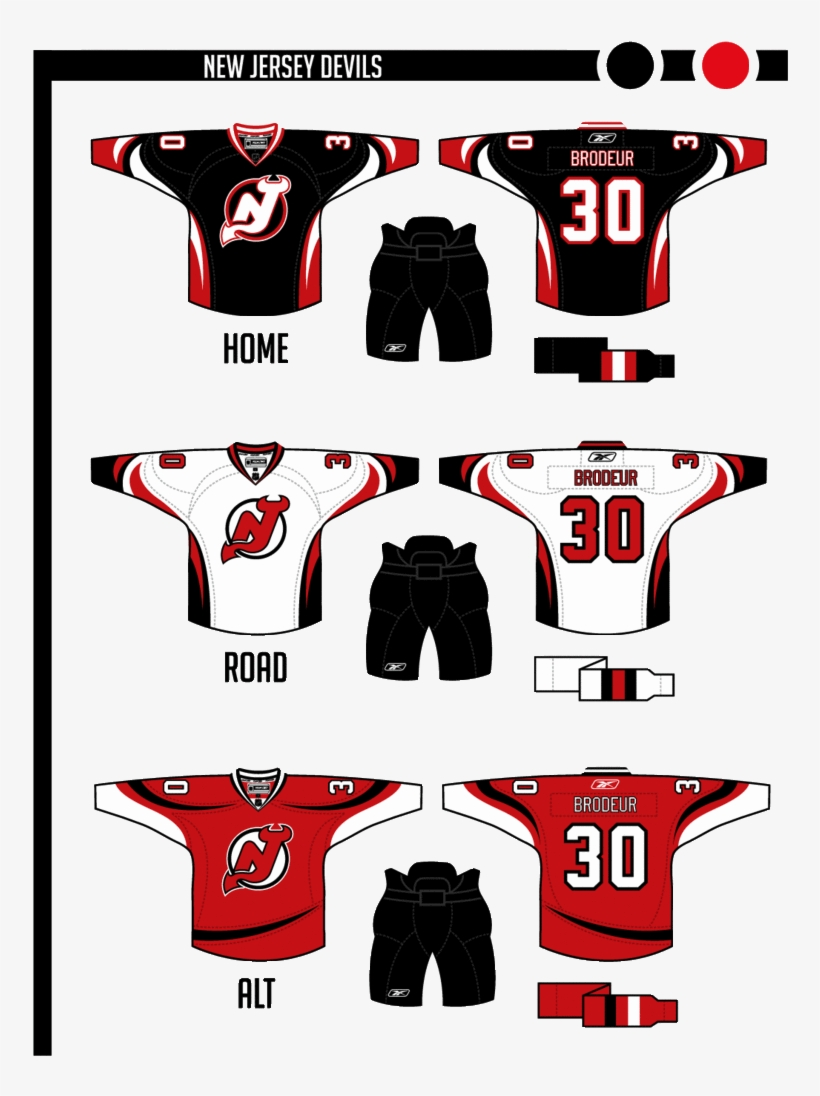 huge discount e083b 463f1 New Jersey Devils In Uniforms That Give A Nod To Old - New ...