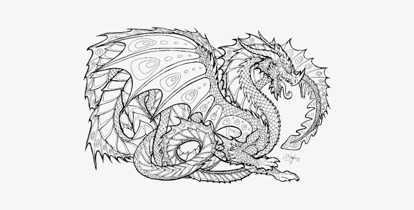 Dragon Coloring Pages for Adults - Best Coloring Pages For Kids | 416x820