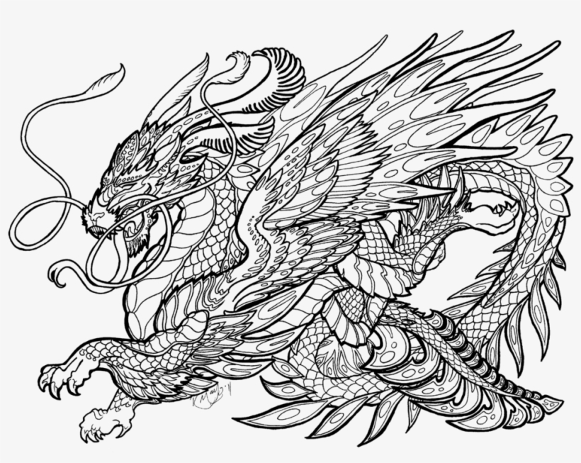 Complicated Dragon Coloring Pages Complex Coloring Pages Of Dragons 1026x778 Png Download Pngkit