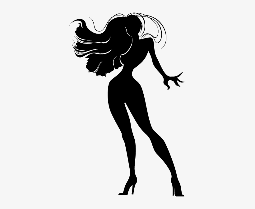 Sexy Lady Wall Sticker Silhouette Sexy Diva 374x592 Png Download